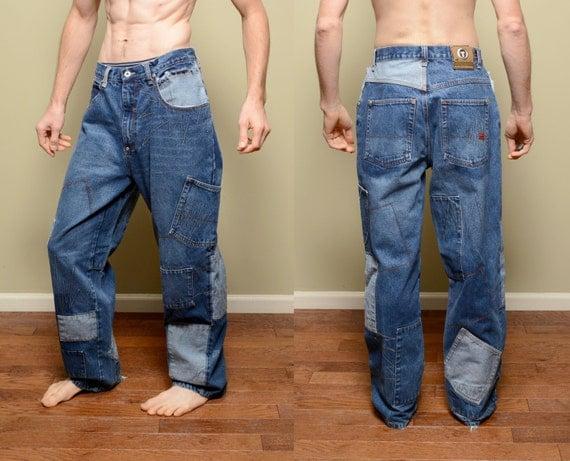 vintage 90s baggy wide leg jeans Internatioonal Tuff Standard