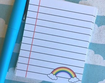 Notecards ~ Rainbow note cards ~ thank you note cards ~ rainbow happy mail ~ planner ~ RB005