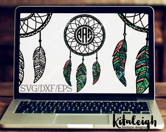 Dreamcatcher Mandala INSTANT DOWNLOAD in dxf, svg, eps for use with programs such as Silhouette Studio and Cricut Design Space