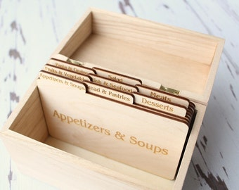 Recipe Card Dividers Recipe Box Dividers