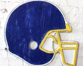 Football Helmet Sports Wall Art Wooden Large