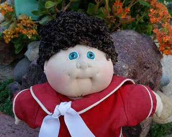 """Cabbage-Patch-Kids-Little-People-Doll- 17""""-Soft-Sculpture-Xavier-Roberts-1990"""