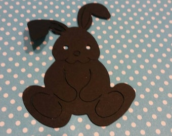 Bunny Die Cut 20 CT- Easter- Die Cut- Cutout- Custom Colors Available