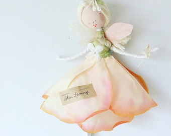 F L O W E R  F A I R Y Beautifully handmade with treasured scraps of vintage and antique fine haberdashery and flower skirt