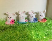 Crocheted Bunny Easter Egg Covers