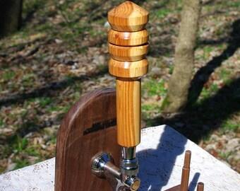 Hand Turned Crabapple Beer Tap Handle from BlackWater Workshops