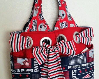 My Favorite Bag, Carry-on, Tote, Gift for New Mom, Diaper Bag, Red, Blue, White, Football, Sports Team, Large 18''X 15''X 5'', Lap Throw