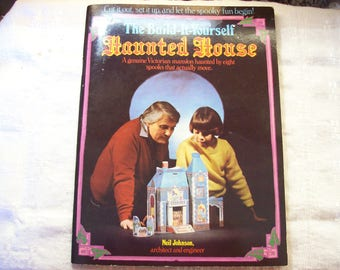 the Build it Yourself Haunted House book, author Neil Johnson, paper model Victorian mansion
