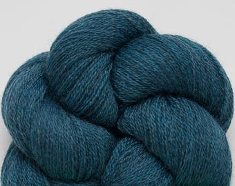 Teal Heather Recycled Extra Fine Grade Merino Lace Weight Yarn, EFM00256