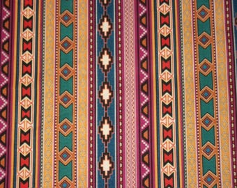 Southwestern Fabric, By The Yard, Dan Morris Southwest Collection, Quilting Sewing Fabric, Novelty Fabric, Navajo Design Mexican Fabric,