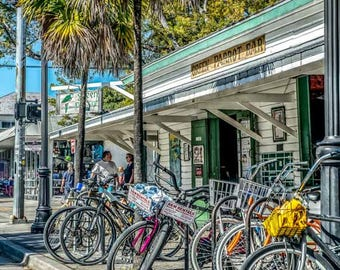Green Parrot Bar - Fine Art Photo, Wall Decor, Key West Florida, Key West Bar, Key West Photo,