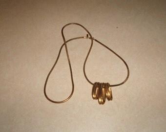 vintage necklace goldtone chain monet