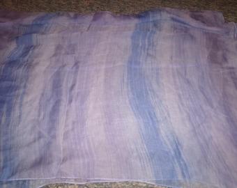 vintage ladies head neck scarf lilac blue ann taylor silk oblong