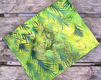 "Florida Green Batik Fabric, 100 Percent Cotton, by Island Batik, 1/4 yard cut, 18"" x 22"" Fat Quarter"