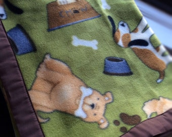 Pups & Bones Fleece Dog Blanket