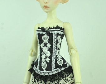 Kiss of Night BJD Art Line Corset for Cerisedolls Classic MSD