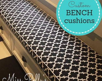Custom Cushions/ Bench Cushions/ Window seat Cushions/ Swing Cushions- RESERVED LISTING for catherinemckenzieaut