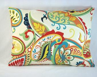 Covington Whimsy Lumbar Pillow Paisley Lumbar Pillow Accent Pillow 13x18 Pillow Cover