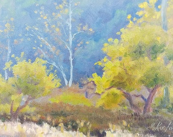 Small Plein Air Oil Painting created at Peter Strauss Ranch, California