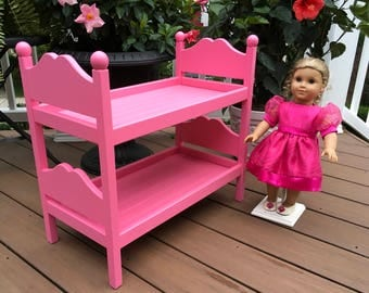 American Girl Doll: Furniture, Hot Pink,  Doll Bunk Beds