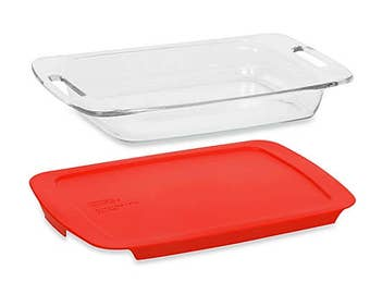 Add a lid to your baking dish order, ships free with order