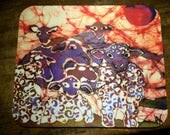 Sheep Flock Mousepad - Sheep Herd Sundown Sunset -  mousepad from original batik by Carol