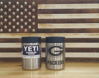 Green Bay Packers Yeti Colster Laser Engraved not sticker