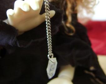 Pendule de divination miniature pour BJD et petites dolls - faux cristal