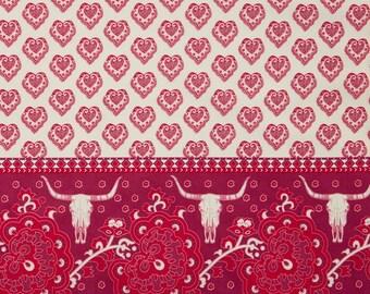 Spellbound Skull Double Border in Mystical Plum,  Urban Chiks, 100% Cotton, Moda Fabrics, 31110 14