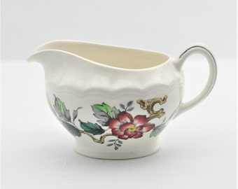 Wood and Sons - Creamer - Ashbourne - Floral - Burgundy Flowers