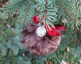 Beaver Fur Christmas Ornament