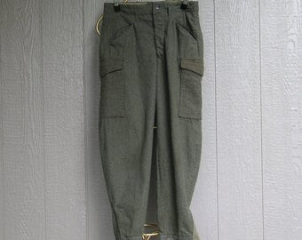 Vintage 40s WW2 BRITISH MILITARY TROUSERS Heavy Wool