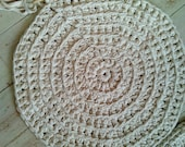Reserved Customer Listing for jhnliner,  25'' Big Stitch, Hand knit, Cotton Rug