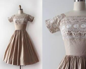 vintage 1950s Mr.Mort dress // 50s cotton eyelet dress