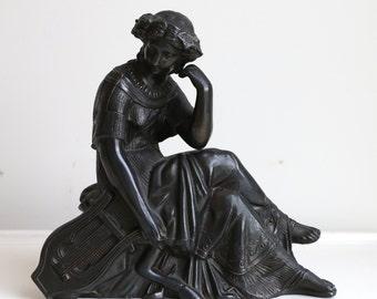 Antique Bronze Woman Statue Goddess Figurine Goddess Statue Metal Statue
