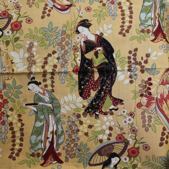 "Asian fabric,Taiwan fabric,Asian women fabric,Asian gown fabric,Quilt fabric,Apparel fabric,Craft fabric,JoAnn fabrics,END OF BOLT 34"" x 44"""