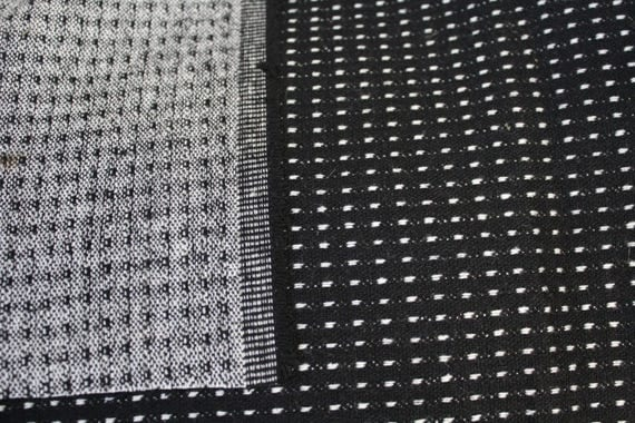 "Wool blend fabric,Black and White Fabric,Home Decor Fabric,Apparel Fabric,Heavyweight Fabric,END OF BOLT Remnant Fabric 22"" x 58"""