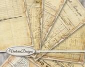 Vintage Ephemera Papers printable 8.5 x 11 inch paper pack crafting scrapbooking instant download digital collage sheet - VDPAVI1414