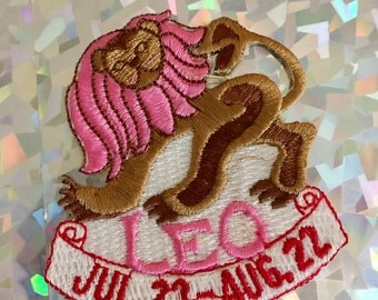 Vintage LEO Zodiac Iron on Sew On Patch Patches