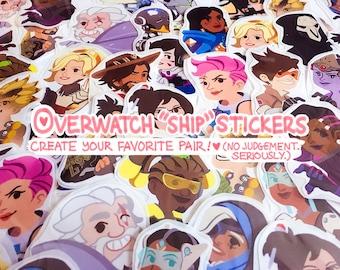 Overwatch Ship Stickers