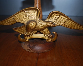 vintage ceramic gold eagle - wall decor / motif - Americana - Federal Style