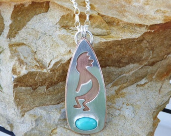 Sleeping Beauty Turquoise Sterling Silver & Copper Necklace