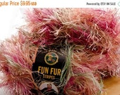 Fun Fur Stripes Yarn, Confetti, Lot of 3 skeins