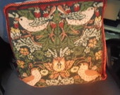 Free Shipping - Vintage Tapestry/Needlepoint Cushion Cover - Found In France