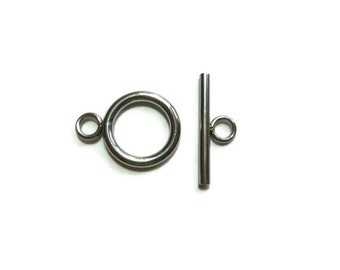 Toggle Clasp Set - Stainless Steel - Silver Bracelet or Necklace Clasp - 1 2 5 10 20 50 sets -  Ring & T-Bar - Bulk - Finding - DIY