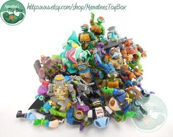 Vintage Lot of Broken TMNT Action Figures and Vehicles Teenage Mutant Ninja Turtles for Repair or Art