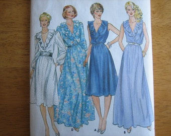 Butterick Pattern 4278 Misses' Dress      1980's