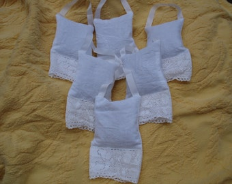"White Sachet---3.5"" by 6""---Lavender buds---Ready to ship---Limited Supply---Free Shipping"
