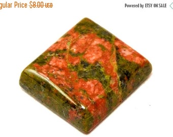 ON SALE Unakite Rectangle Cabochon Stone (18mm x 16mm x 6mm)