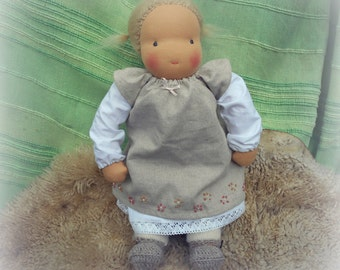 "BRIDIE - 16"" Waldorf doll made from completely natural materials, blonde hair, Waldorf inspired doll"